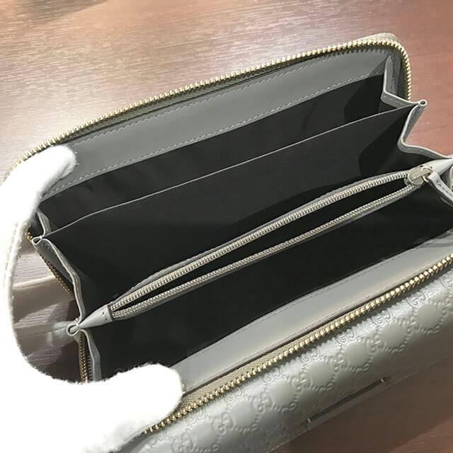 堺のお客様からグッチの【マイクログッチ シマ】の長財布を買取_03