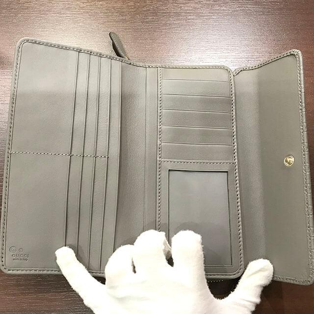 堺のお客様からグッチの【マイクログッチ シマ】の長財布を買取_04