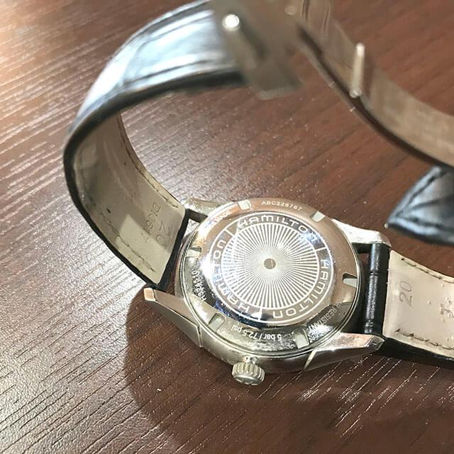 天王寺のお客様からハミルトンの腕時計【ジャズマスター】を買取_03