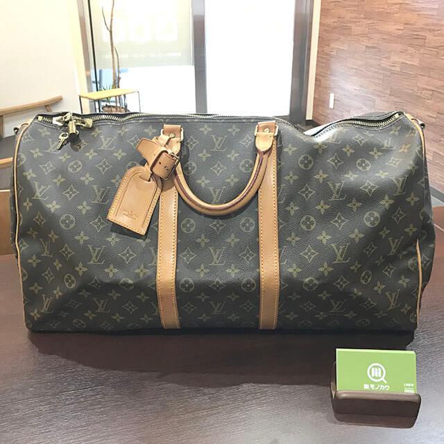 大阪のお客様からヴィトンのボストンバッグ【キーポル・バンドエール55】を買取_01