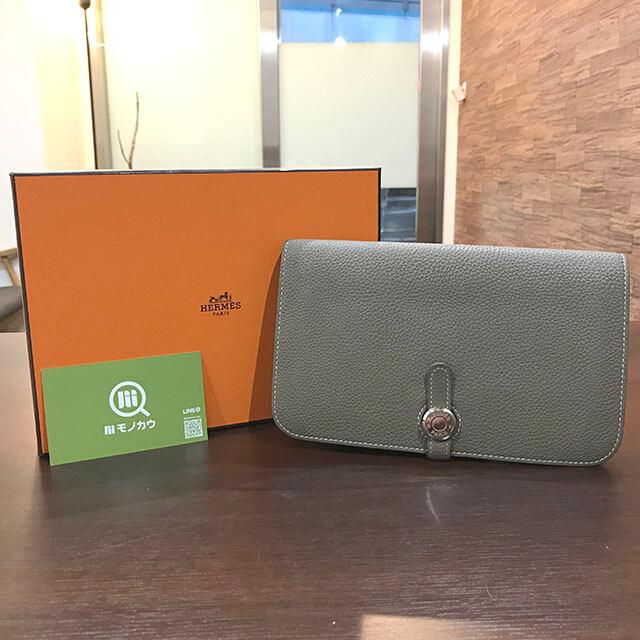 谷町四丁目のお客様からエルメスの財布【ドゴンGM】を買取_01