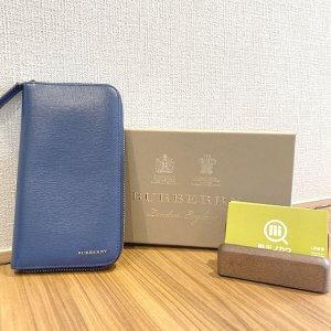 上本町のお客様からバーバリーのラウンドファスナー長財布を買取