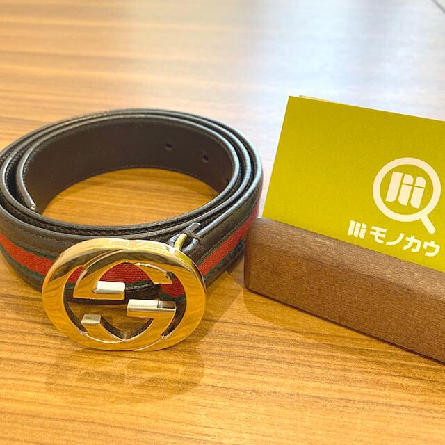 東大阪のお客様からグッチの【シェリーライン】のベルトを買取_01