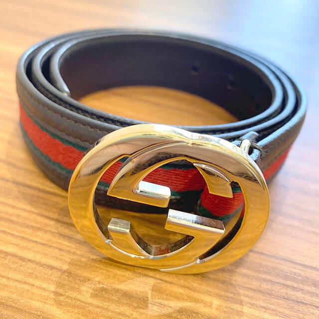 東大阪のお客様からグッチの【シェリーライン】のベルトを買取_02