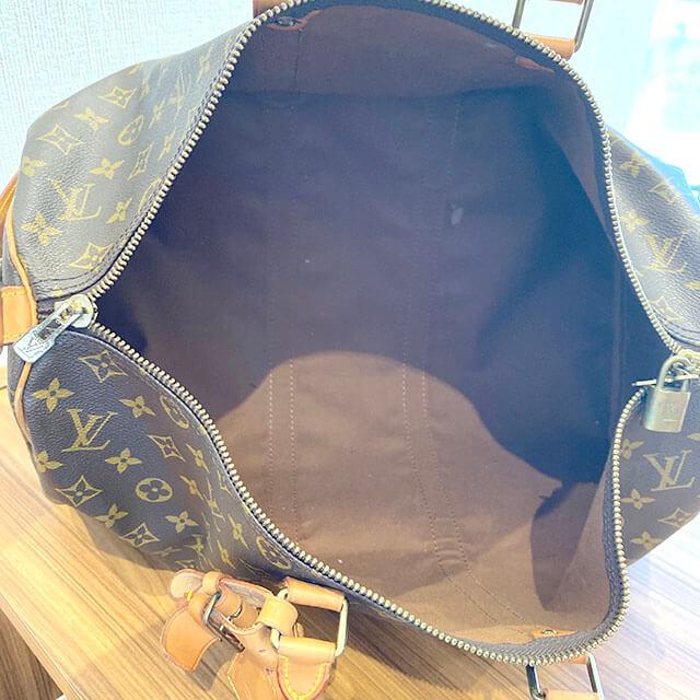 東花園のお客様からヴィトンのボストンバッグ【キーポル45 バンドリエール】を買取_04