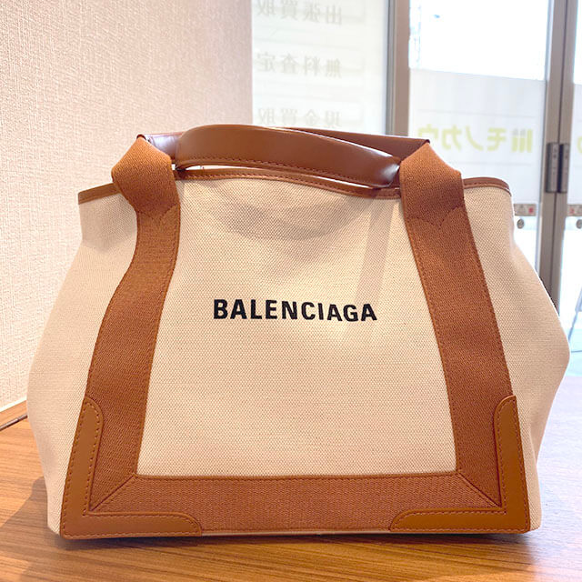 熊本のお客様からバレンシアガのバッグ【ネイビーカバス S】を買取_01