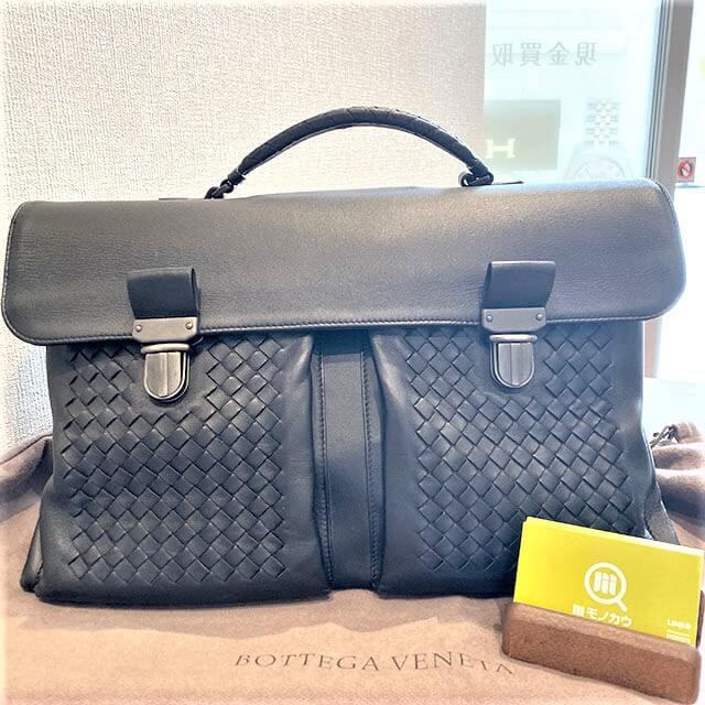 東大阪のお客様からボッテガヴェネタのブリーフケースを買取_01