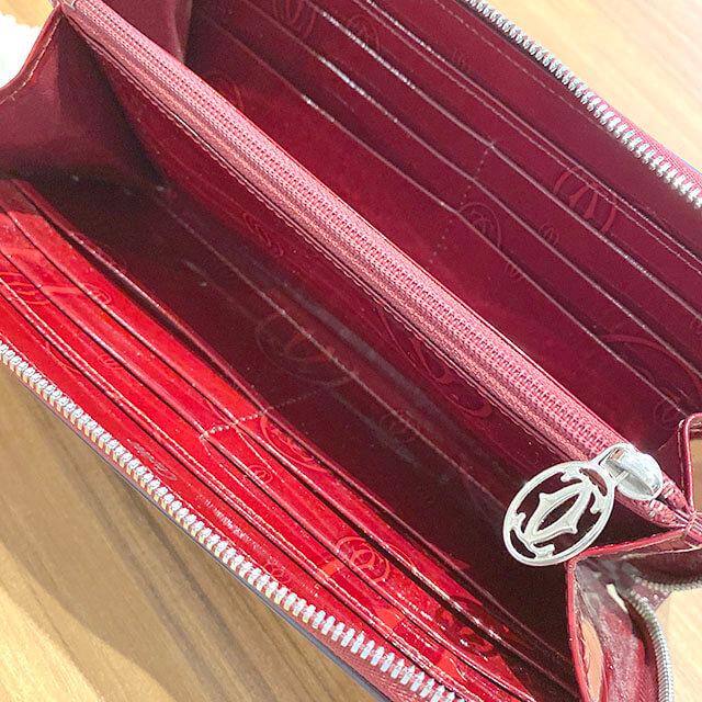 放出のお客様からカルティエの長財布【ハッピーバースデー】を買取_04