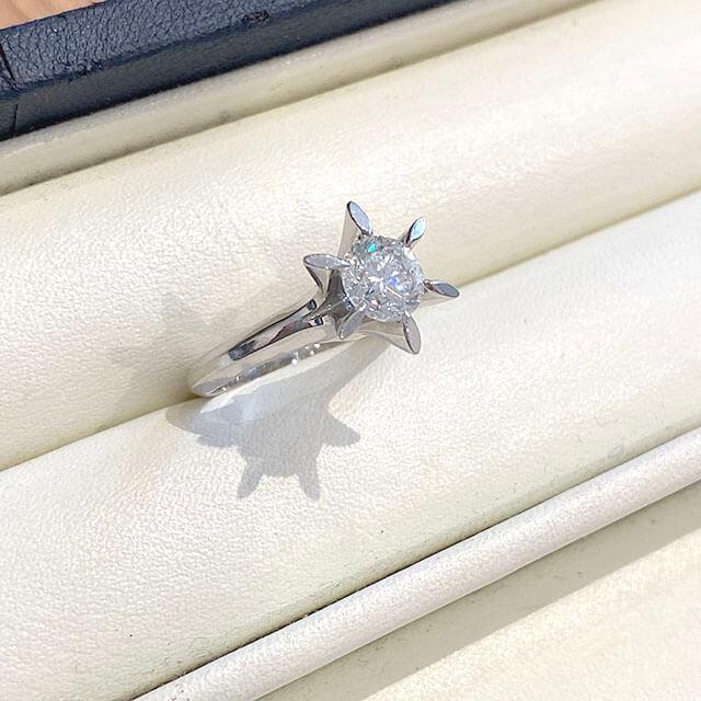深江橋のお客様から1カラットの【鑑定書なし】のダイヤモンドの指輪を買取_04