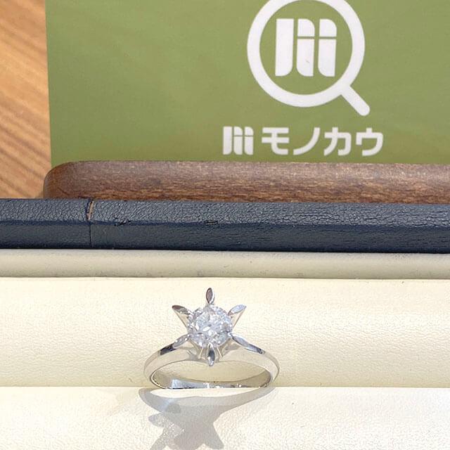深江橋のお客様から1カラットの【鑑定書なし】のダイヤモンドの指輪を買取_01
