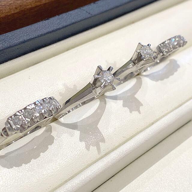 モノカウ玉造店にて今福鶴見のお客様からダイヤ入りの指輪を買取_02