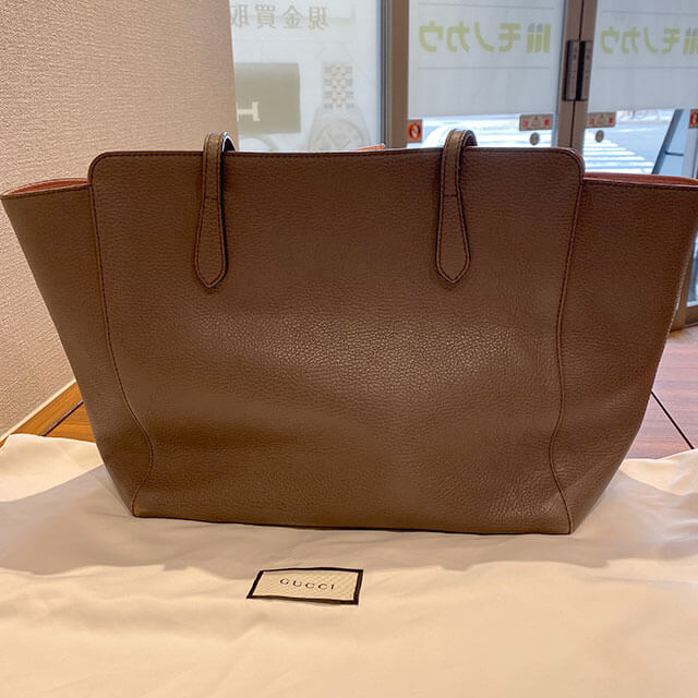 天王寺のお客様からグッチの【スウィング トート】バッグを買取_02