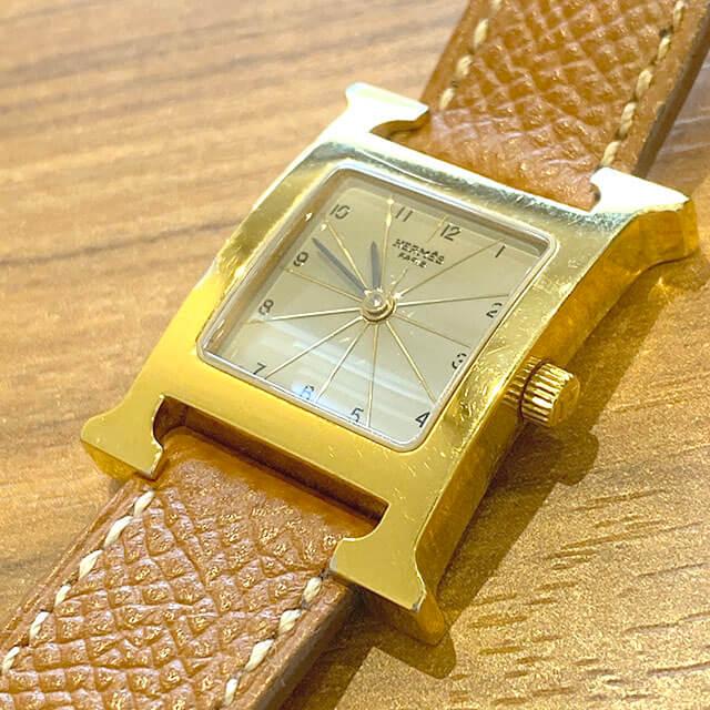 天王寺のお客様からエルメスの腕時計【Hウォッチ】を買取_02