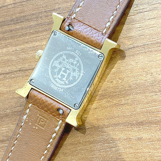天王寺のお客様からエルメスの腕時計【Hウォッチ】を買取_03