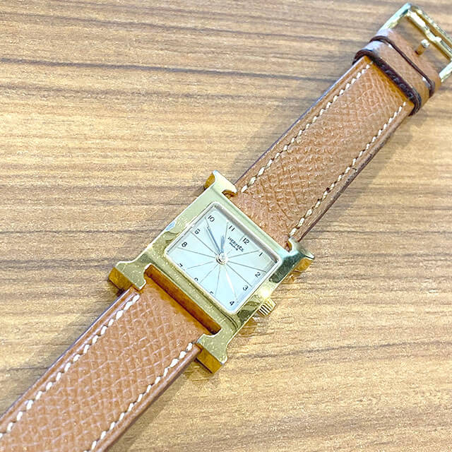 天王寺のお客様からエルメスの腕時計【Hウォッチ】を買取_04