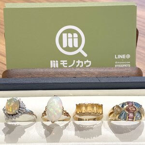 モノカウ玉造店にて今福鶴見のお客様から色石付きの指輪を買取