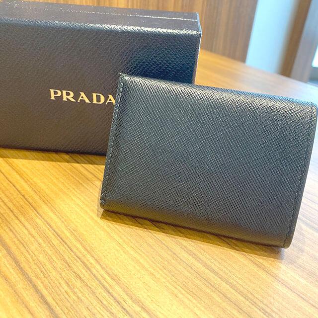 福島のお客様からプラダの財布【ミニウォレット】を買取_02