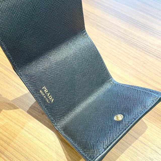 福島のお客様からプラダの財布【ミニウォレット】を買取_04