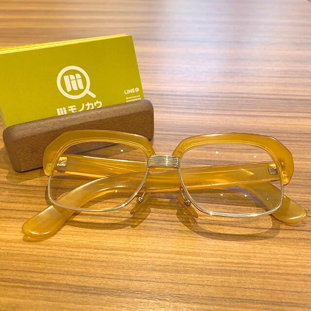 モノカウ緑橋店にて鴫野のお客様から鼈甲(べっこう)の14金の眼鏡を買取_01
