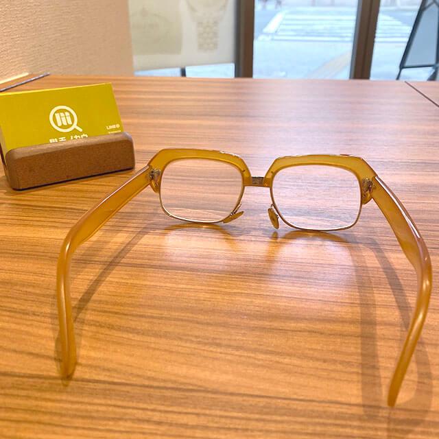 モノカウ緑橋店にて鴫野のお客様から鼈甲(べっこう)の14金の眼鏡を買取_04