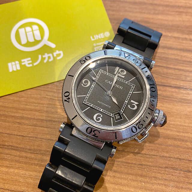 今里のお客様からカルティエの腕時計【パシャ シータイマー】を買取_01
