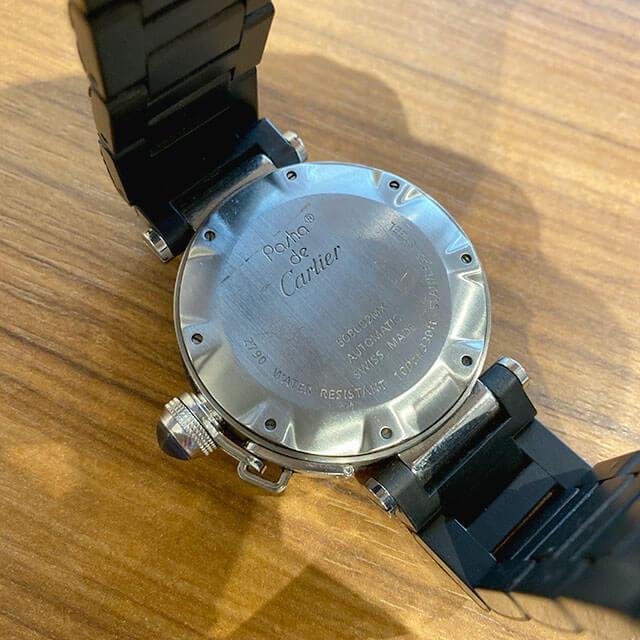 今里のお客様からカルティエの腕時計【パシャ シータイマー】を買取_02