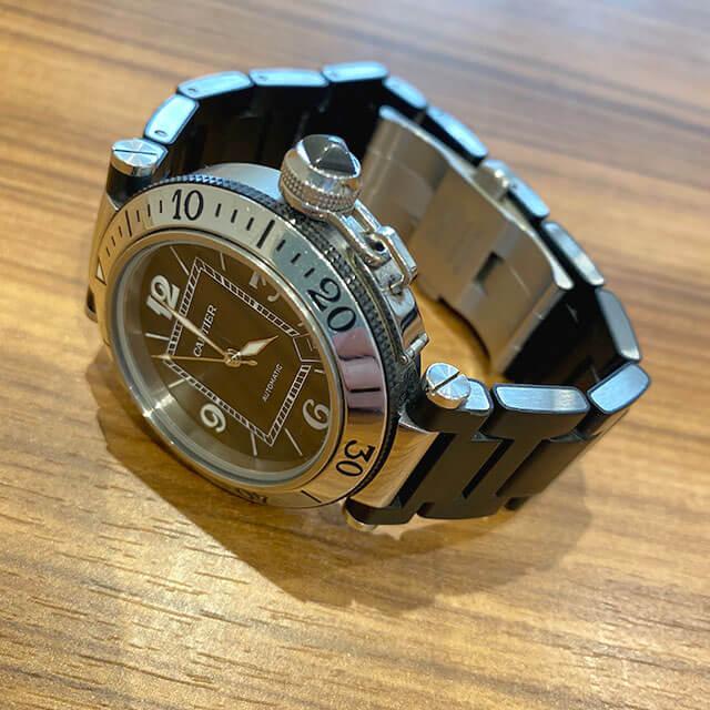 今里のお客様からカルティエの腕時計【パシャ シータイマー】を買取_03