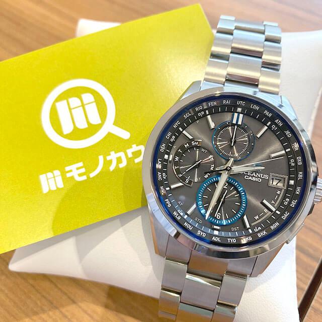 今里のお客様からカシオの腕時計【オシアナス】を買取_01