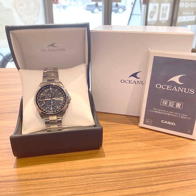 今里のお客様からカシオの腕時計【オシアナス】を買取_04