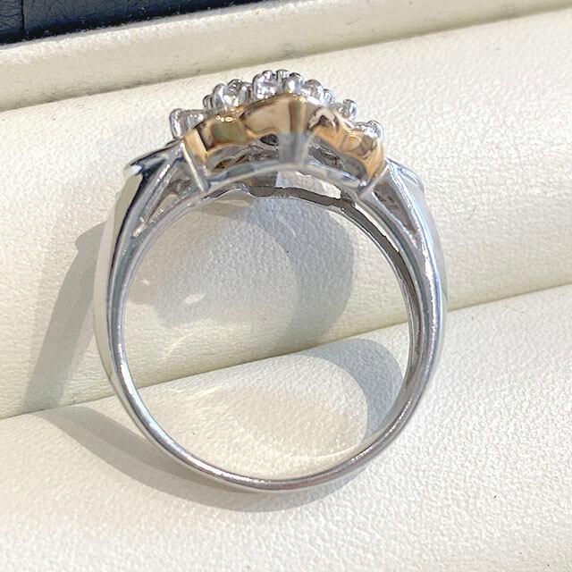 桃谷のお客様からダイヤモンドのプラチナデザインリングを買取_03