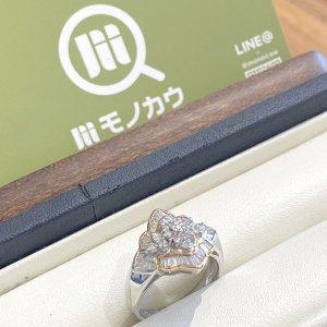 桃谷のお客様からダイヤモンドのプラチナデザインリングを買取