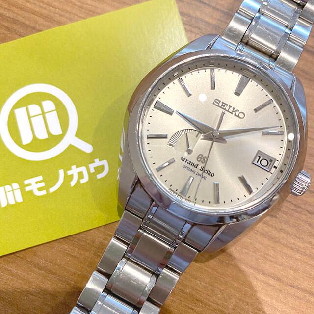 大阪のお客様からグランドセイコーの腕時計【スプリングドライブ】を買取_01