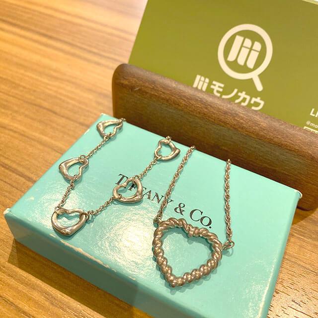 深江橋のお客様からティファニーの【オープンハート】ネックレスを買取_01