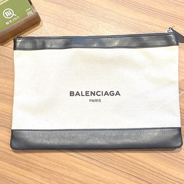流山のお客様からバレンシアガのクラッチバッグ【ネイビークリップ】を買取_01