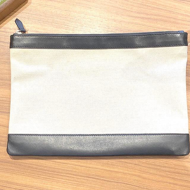 流山のお客様からバレンシアガのクラッチバッグ【ネイビークリップ】を買取_02
