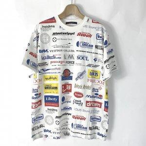 生野のお客様からヴィトンの19AWのTシャツ【Allover Logos Printed Tee】を買取