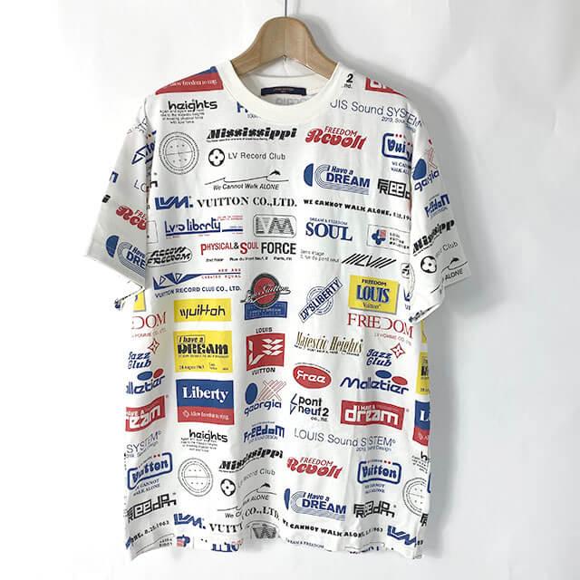 生野のお客様からヴィトンの19AWのTシャツ【Allover Logos Printed Tee】を買取_01