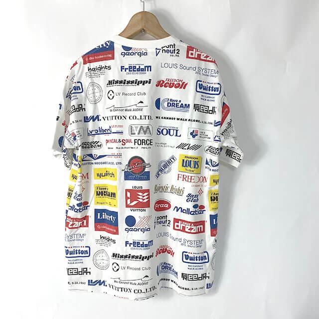 生野のお客様からヴィトンの19AWのTシャツ【Allover Logos Printed Tee】を買取_02