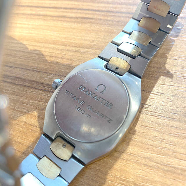 モノカウ緑橋店にてオメガの腕時計【シーマスター】を買取_02