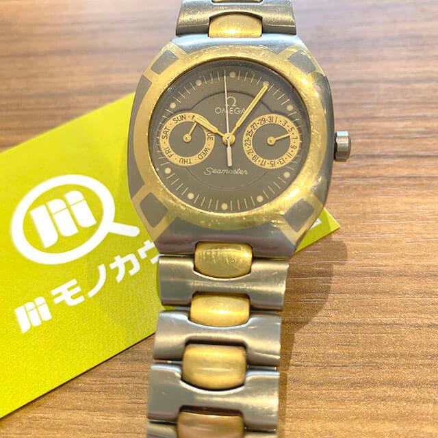 モノカウ緑橋店にてオメガの腕時計【シーマスター】を買取_01