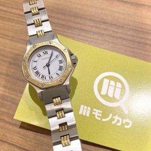 モノカウ玉造店にてカルティエの腕時計【サントス オクタゴンSM】を買取