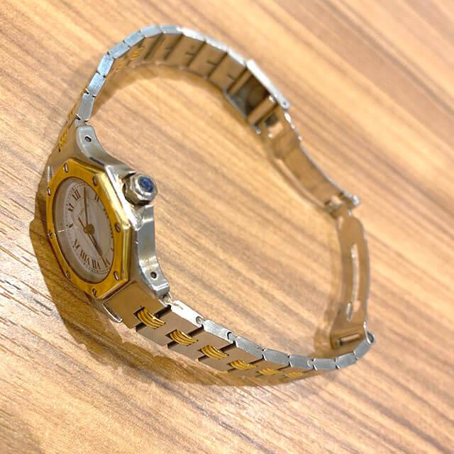 モノカウ玉造店にてカルティエの腕時計【サントス オクタゴンSM】を買取_03