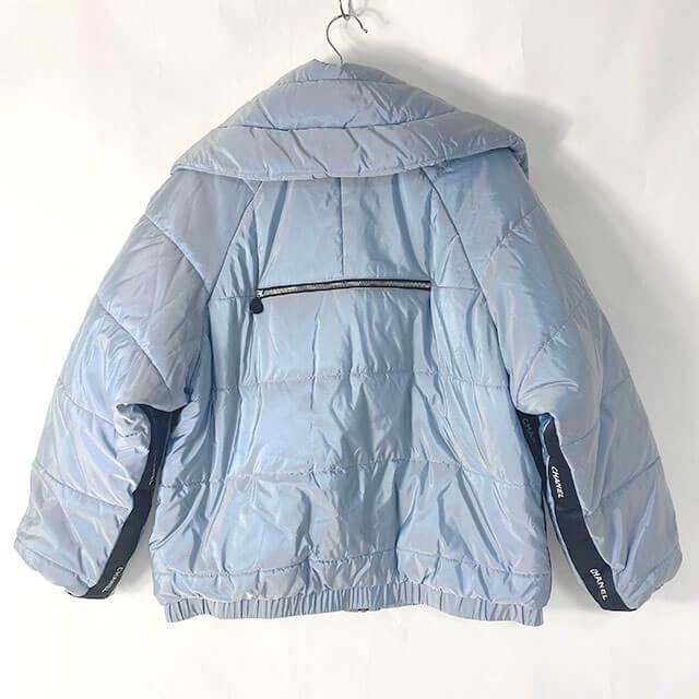 福島のお客様からシャネルのジップアップジャケットを買取_02