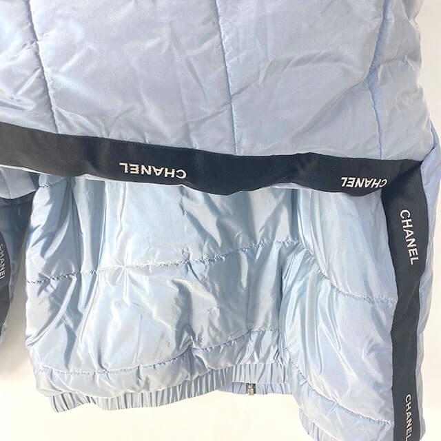 福島のお客様からシャネルのジップアップジャケットを買取_03