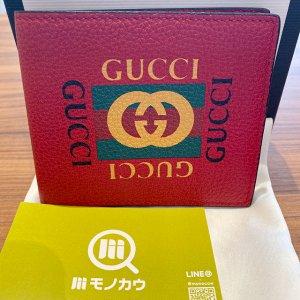 座間のお客様からグッチの【GGプリント】二つ折り財布を買取
