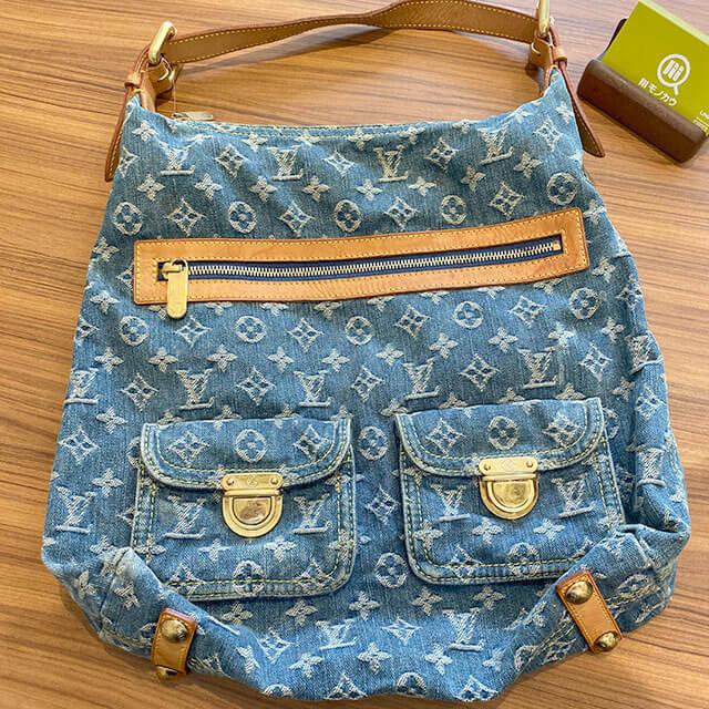 美作のお客様からヴィトンのデニムのバッグ【バギーPM】を買取_01