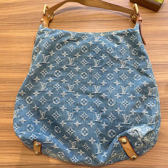 美作のお客様からヴィトンのデニムのバッグ【バギーPM】を買取_02