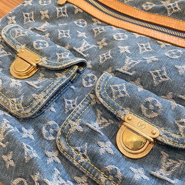 美作のお客様からヴィトンのデニムのバッグ【バギーPM】を買取_03