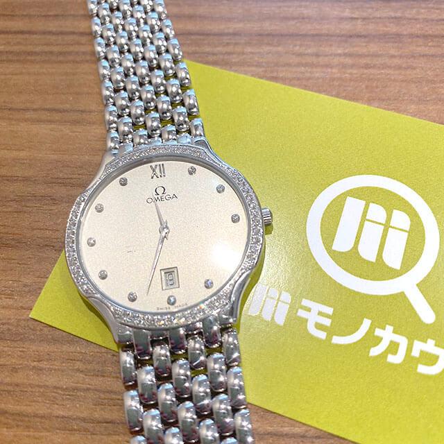 天王寺のお客様からオメガの金無垢の腕時計【デビル】を買取_01