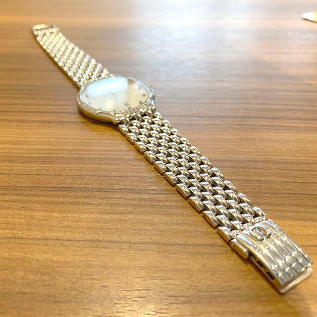 天王寺のお客様からオメガの金無垢の腕時計【デビル】を買取_03